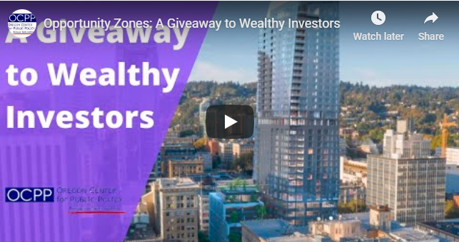 Opportunity Zones: A Giveaway to Wealthy Investors